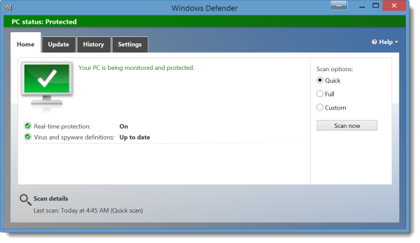 Windows Defender Shows a Warning with a Third Party Antivirus