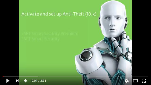 How to Activate and set up ESET Anti-Theft (10.x)
