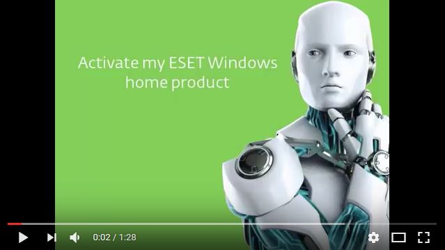 How to  Activate your ESET Windows home product (10.x)