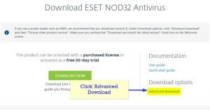 Download an old ESET version