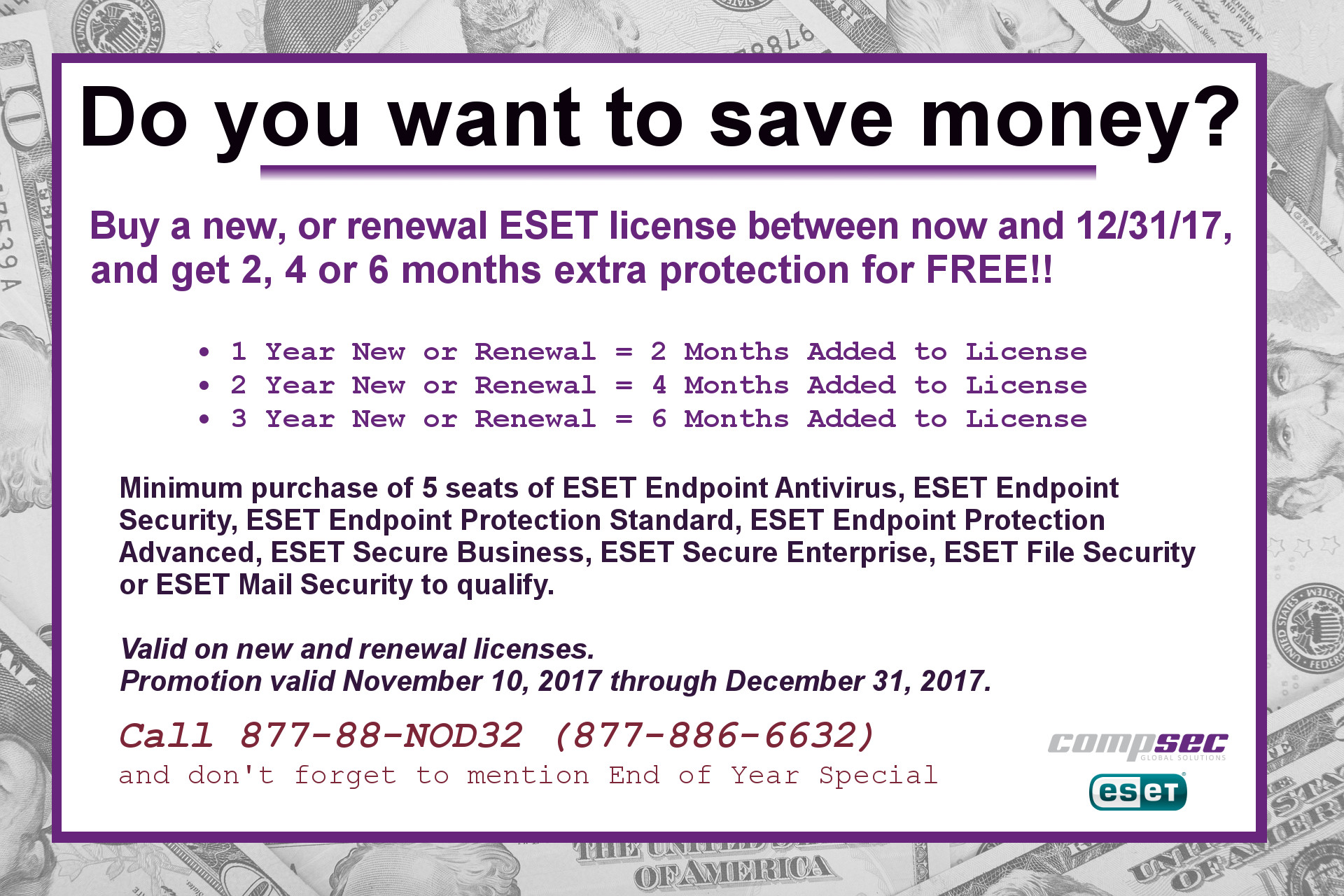 Save on ESET with the end of year Promotion: 2, 4 or 6